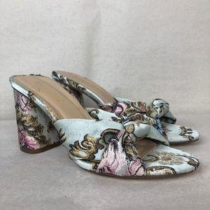 Shoe dazzle nessa silk knot heels